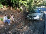 сидим, ждем наши колеса из ремонта / Фото из Доминиканской Республики