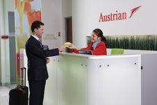 Стойка регистрации в бизнес-зале Austrian / Австрия