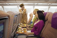 Экономический класс в Airbus A340-500 / ОАЭ