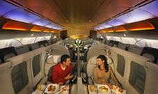 Первый клас Suites в Airbus A340-500 / ОАЭ
