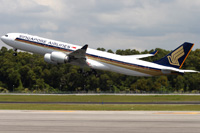 Airbus 340-500 / Сингапур