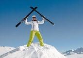 Счастливый горнолыжник