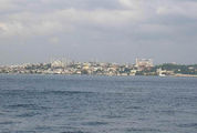 Вид на Голубую мечеть и Святую Софию с моря / Фото из Турции