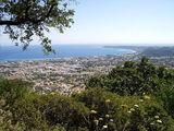 Вид на эгейское побережье с горы Филеримос / Фото из Греции