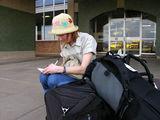 Cидим на рюкзаках / Фото из Лесото