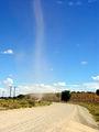 Смерч разгуливает по дороге / Фото из ЮАР