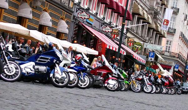 Собрание мотоциклистов / Фото из Норвегии