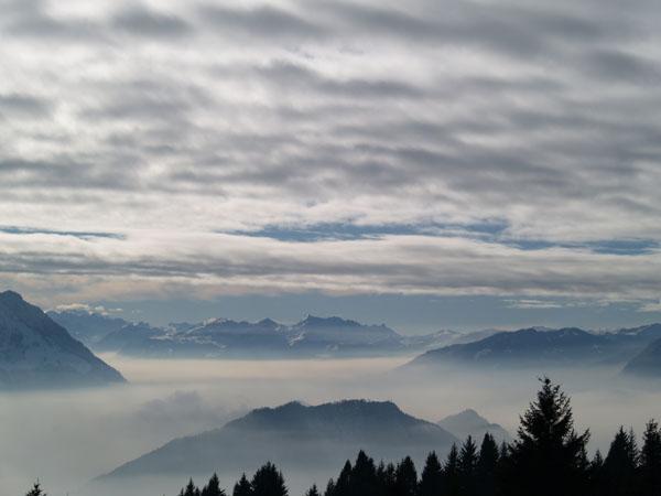 Облака под нами: вид с вершины Риги / Фото из Швейцарии