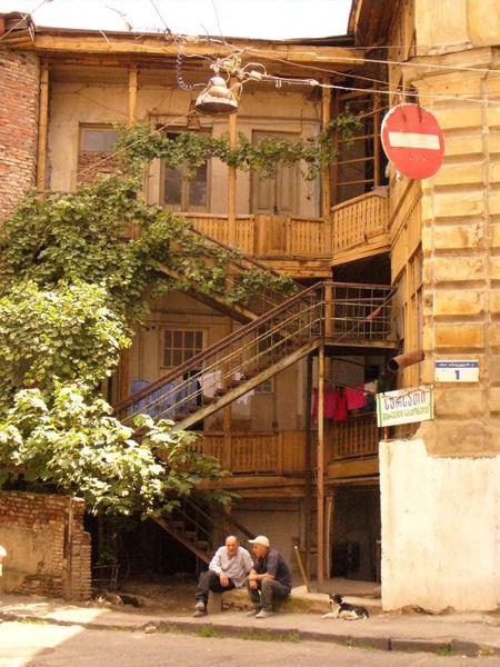 Тбилисские домики / Фото из Грузии