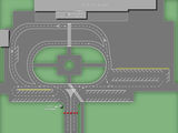 Схема движения и парковки автотранспорта на привокзальной площади / Россия