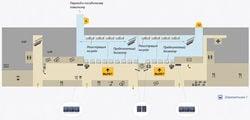 Терминал B, 1 этаж, зал вылета / Россия