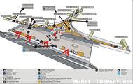 Схема уровня вылета, 3 этаж, терминал D / Россия
