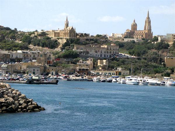 Причал в городе Мгхарр / Фото с Мальты