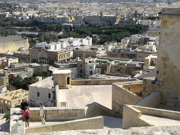 Панорама со стен цитадели, остров Гоцо / Фото с Мальты