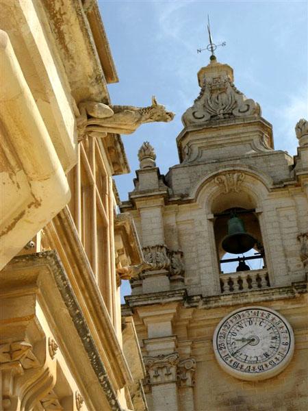 Колокольня с часами, Мдина / Фото с Мальты