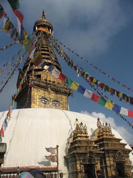 Центральная ступа знаменитого Храма обезьян / Фото из Непала