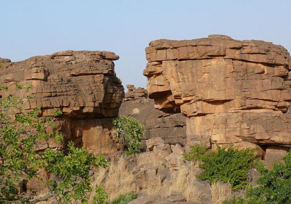 Ущелье, через которое осуществляется переход в долину Бандиагара / Фото из Мали