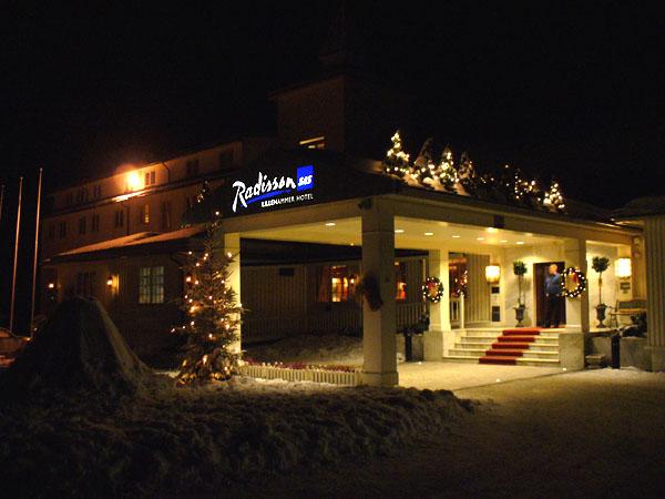Radisson SAS Lillehammer вечером / Фото из Норвегии