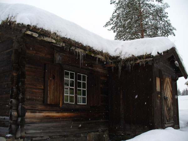 Сосульки и 'газон' на крыше / Фото из Норвегии
