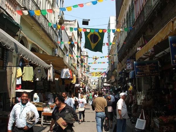 Торговые улицы Рио-де-Жанейро / Фото из Бразилии