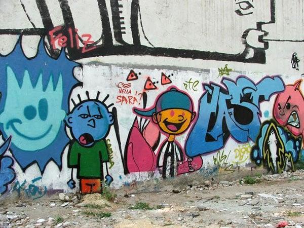 Граффити в Рио-де-Жанейро / Фото из Бразилии