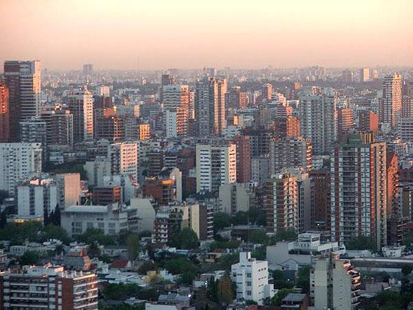 Закат в столице Аргентины / Фото из Аргентины