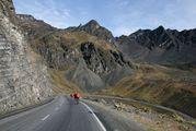 верхняя, асфальтированная дорога / Боливия