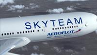 """самолет """"Aэрофлота"""" в ливрее SkyTeam"""