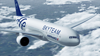 самолет Air France в ливрее SkyTeam