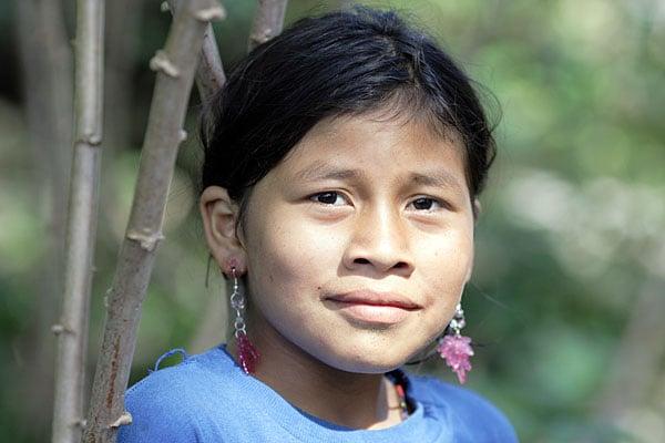 Девочка племени аурани / Фото из Эквадора