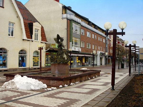 Самый центр городка / Фото из Швеции