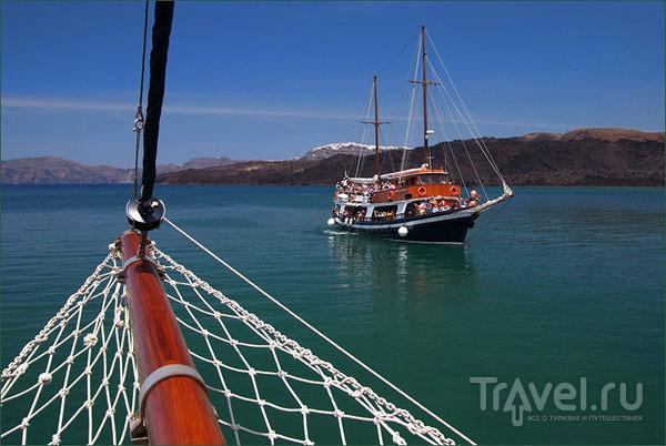 Яхты в кальдере / Фото из Греции