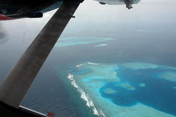 Атоллы в Индийском океане / Фото с Мальдив