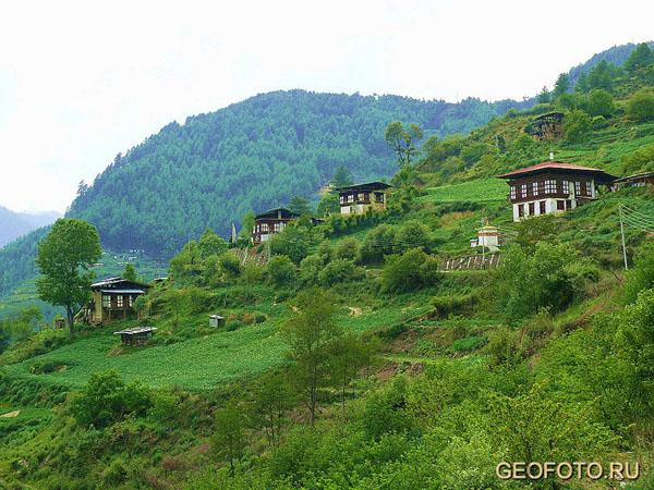 Идиллические пейзажи южного Бутана / Фото из Бутана
