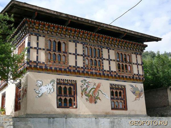 Бутанская живопись / Фото из Бутана