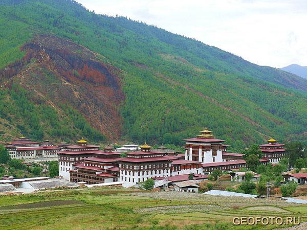 Ташичудзонг в Тхимпху  / Фото из Бутана