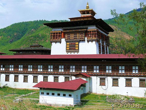 """Утсе"" – центральная башня Ташичудзонга / Фото из Бутана"