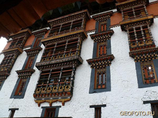 Дзонг в Паро / Фото из Бутана
