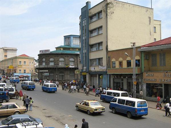 Столичные улицы, Аддис-Абеба / Фото из Эфиопии