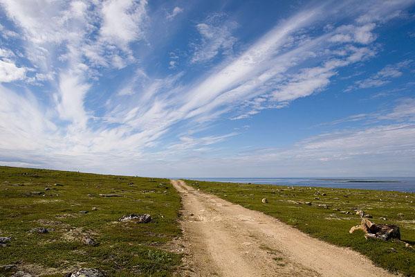 Путь вдоль берега - под ясным небом / Фото из России