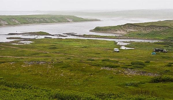 Зубовская губа, река Пяйве впадает в океан / Фото из России