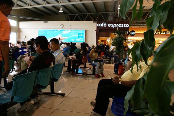 Зал ожидания в LCCT AirAsia / Фото из Малайзии