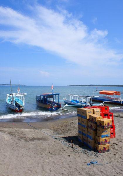 Пристань в Бангсале - вдали видны Гили-Эйр и Мено / Фото из Малайзии