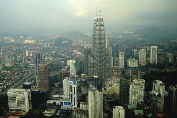 Вид на Куала-Лумпур с высоты 250 метров / Фото из Малайзии