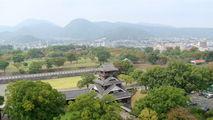 вид из замка, Кумамото / Япония