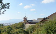 вид на Киото из храма Чистой Воды / Япония