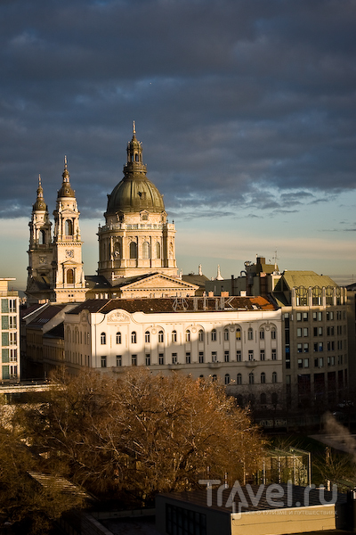 Вид на площадь и базилику Святого Стефана, Будапешт / Фото из Венгрии