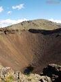 кратер. диаметр ок. 200 м, глубина ок. 100 м, высота 2240 м / Монголия