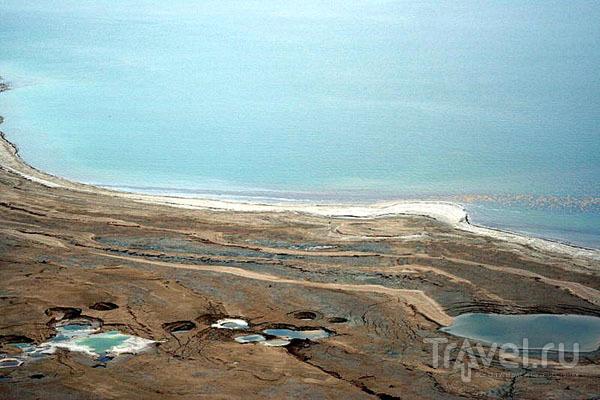 Южная часть Мертвого моря за лето сильно высыхает / Фото из Израиля