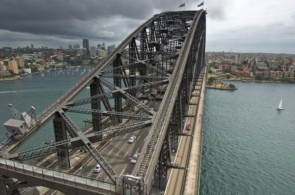 На самый верх Harbour Bridge устраивают экскурсии / Фото из Австралии